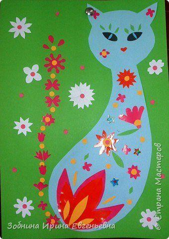 Поделка изделие Аппликация Весна идёт и все ей рады Бумага фото 1 поделки из бумаги Pinterest Kocky, Kvetinovy a Blahoprani