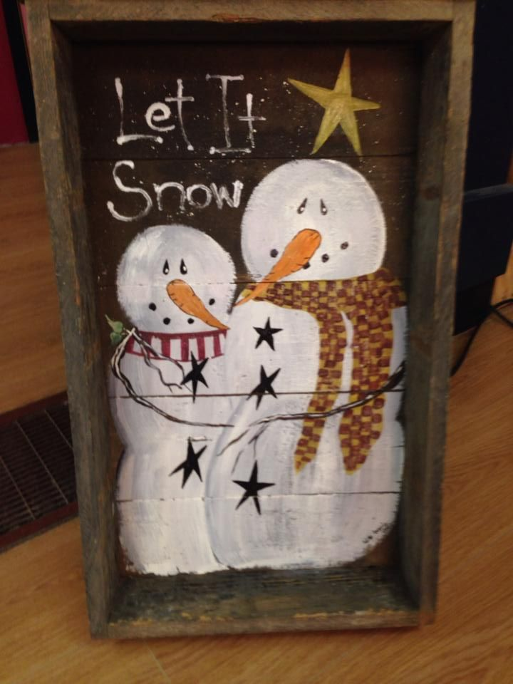 hand painted snowman designs by denice pinterest