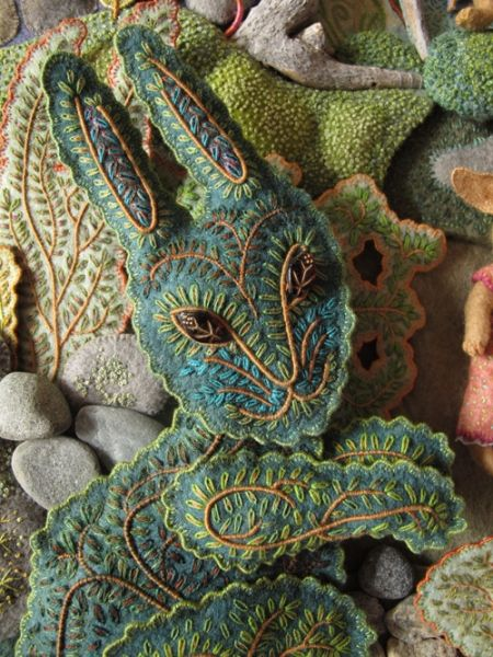 stitched bunny --incredible, lush detail