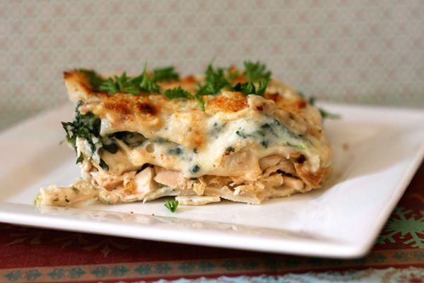 White cheese and chicken lasagna | Pasta | Pinterest