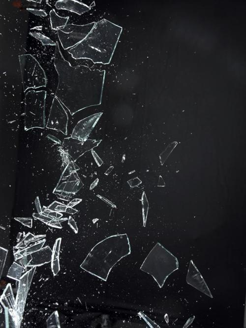broken glass   ...