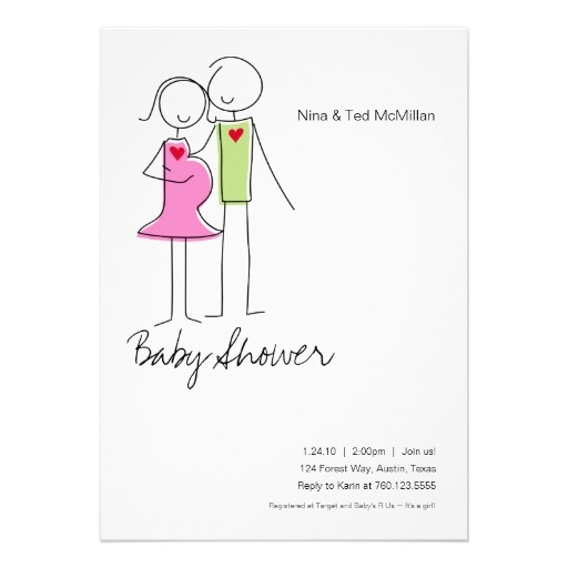 it 39 s a girl coed baby shower invitations 5x7