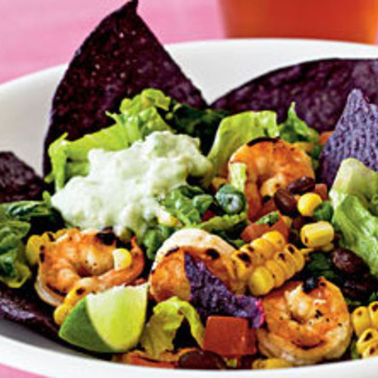 southwestern recipes | Southwestern-Style Shrimp Taco Salad Recipe ...