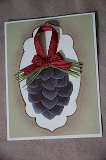 Pine cone made with flower builder punch   Punch Art   Pinterest