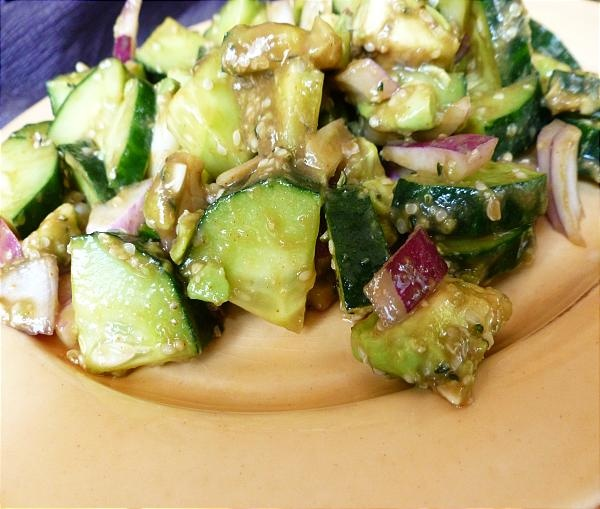 Spicy Asian Cucumber Avocado Onion Salad | Recipes - Blog | Pinterest