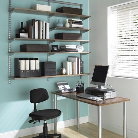 elfa office shelving system