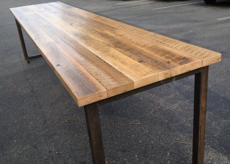 Reclaimed wood tables m h project pinterest Salvaged wood san francisco