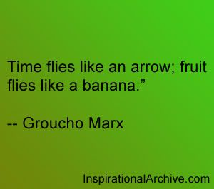 Time flies like an arrow...quote quote quote