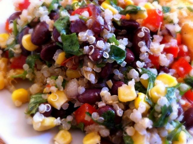 Quinoa, Black Bean, & Corn Salad | The Main Dish! | Pinterest