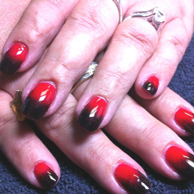 Shellac ombré nails | Nail Fun! | Pinterest