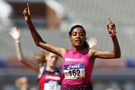 The rising star. Oromo athlete Sifan Hassan. Based in Holland,Sifan Hassan is part of the Diamond League, made Thursday during the athletics gala in Stockholm, finished third in the 3000 meters. Oromo athlete Meseret Defar Gold. http://www.volkskrant.nl/vk/nl/2698/Sport/article/detail/3496908/2013/08/22/Toptijd-Sifan-Hassan-in-Stockholm.dhtml