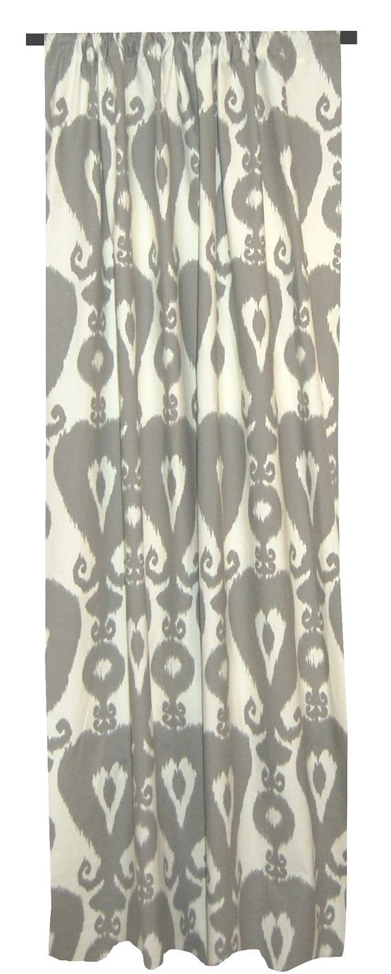Shower curtains click for details gray ikat shower curtain the