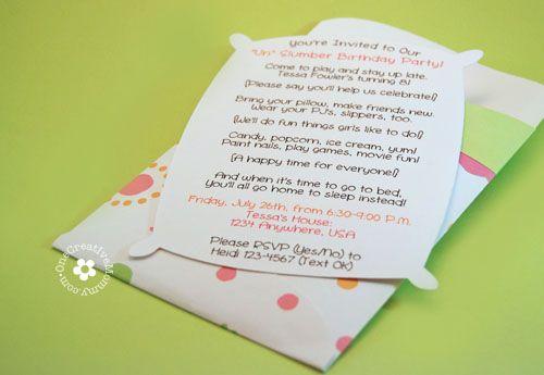 Invitations For Sleepover with amazing invitation design