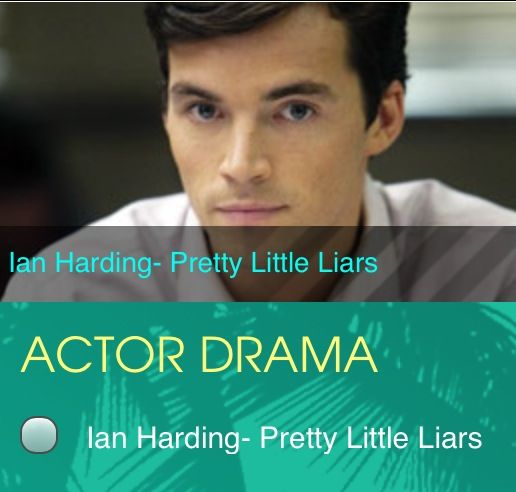 VOTE FOR IAN HARDING FOR THE 2013 TEEN CHOICE AWARDS!!!!! #TCA