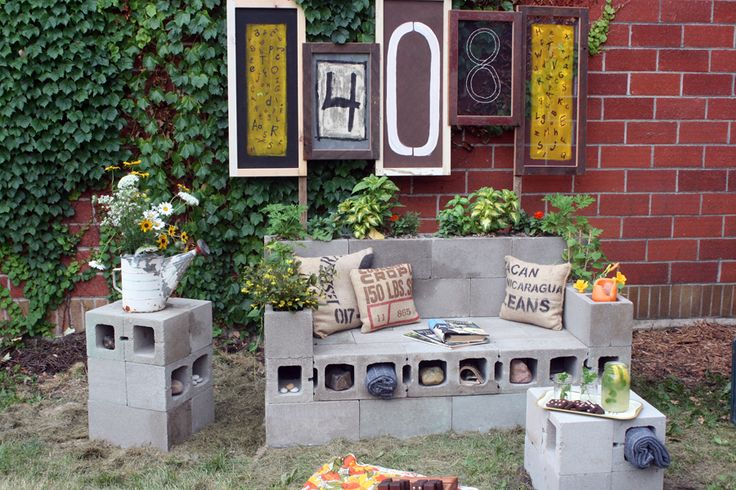 More cinder block ideas garden pinterest for Cinder block seating area