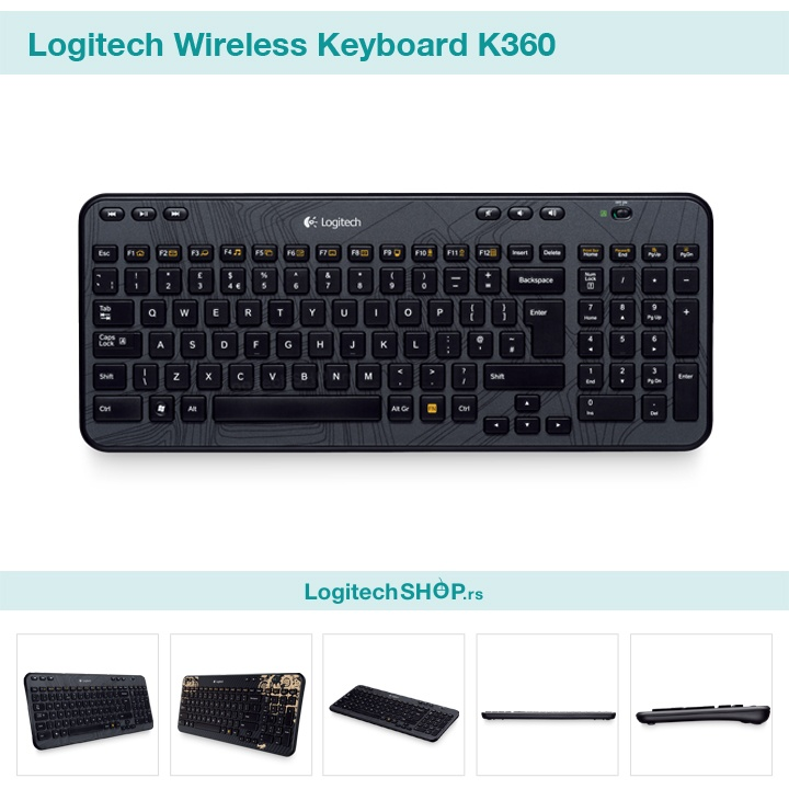 Logitech Wireless Keyboard K360 | Logitech Keyboard ...