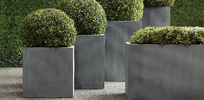 Planters Restoration Hardware Outdoor Space Pinterest