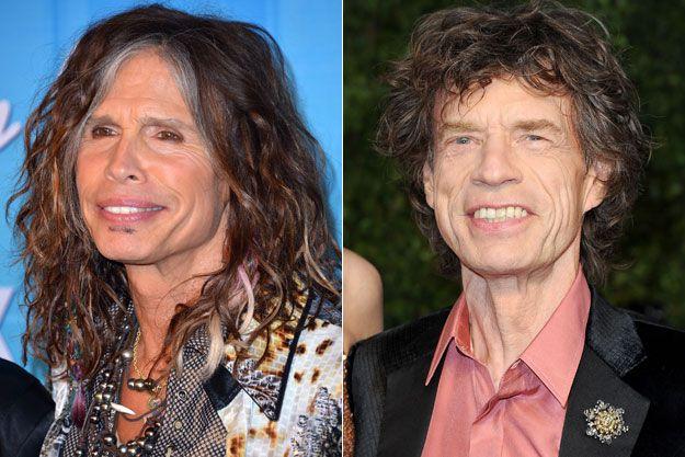 Mick Jagger and Steven Tyler