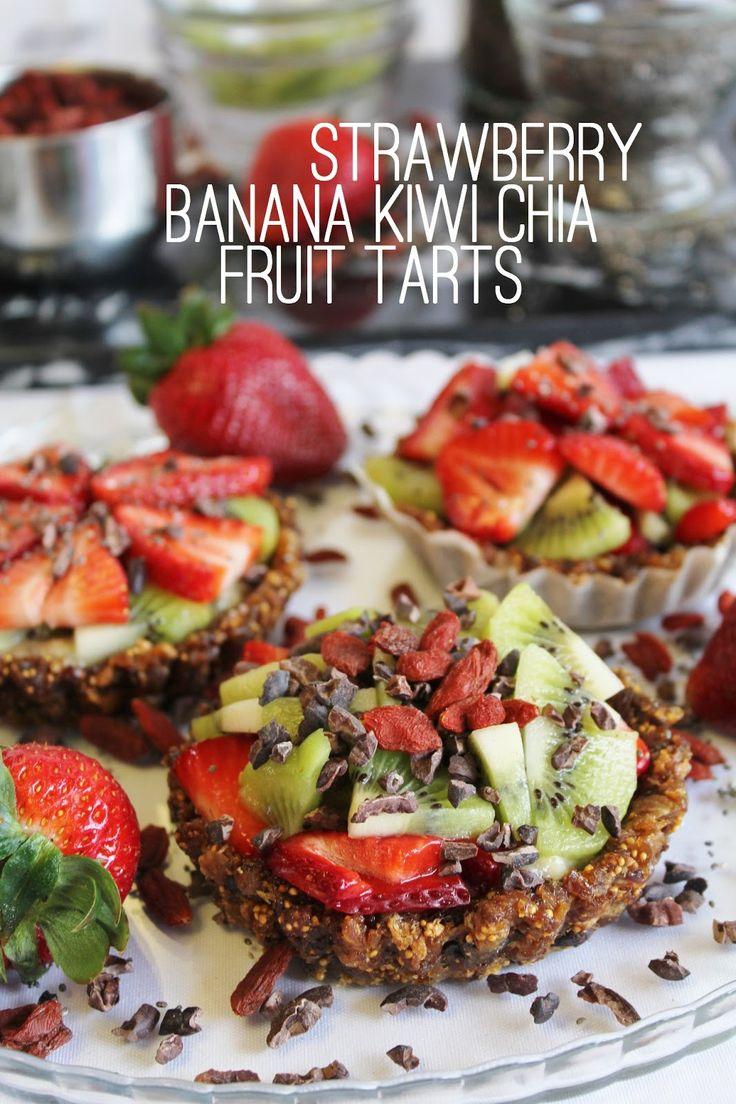 Raw strawberry banana kiwi Chua tarts | Healthy Living | Pinterest