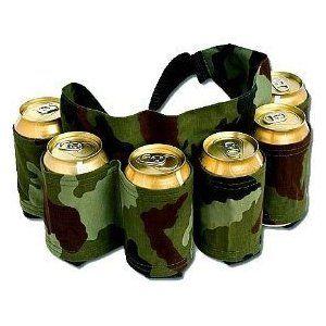 Redneck 6 Pack Beer & Soda Can Holster Belt - Camo (all your outdoor needs)