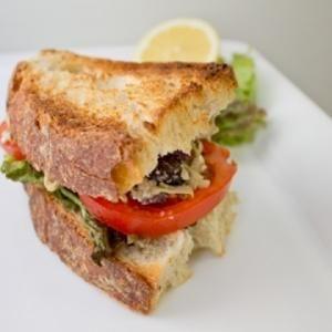 Artichoke and Olive Tapenade Sandwich- with lettuce, tomato and feta