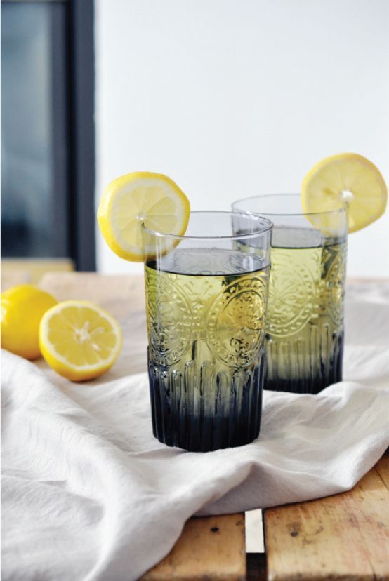 lavender lemonade : simple syrup with lemon, water, & lavender