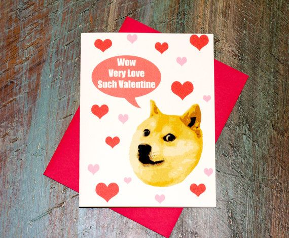 Doge Valentine s Day Funny Meme Greeting Card Pop by TurtlesSoup   3    Doge Card