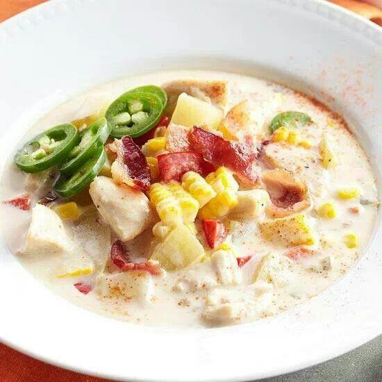Spicy chicken corn chowder | soups | Pinterest