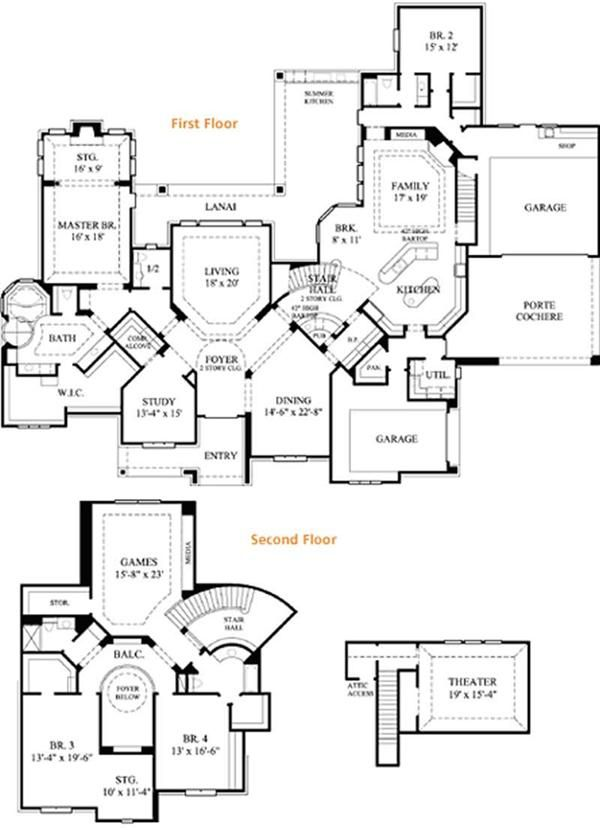 Floor Plan 6000 Sq Ft For The Home Pinterest