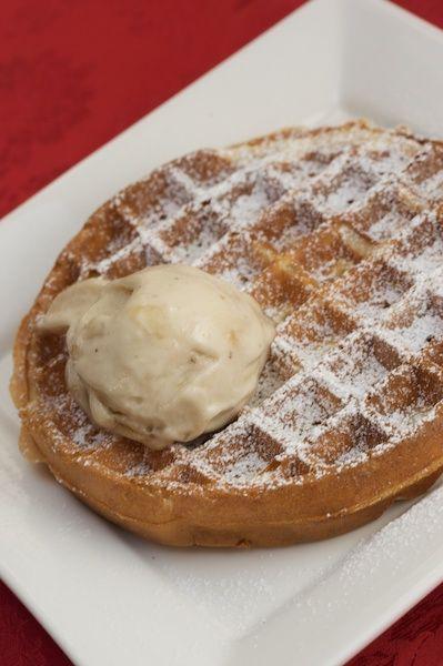Goodbye Breakfast ; Emma`s Belgian Waffles with Banana Ice Cream