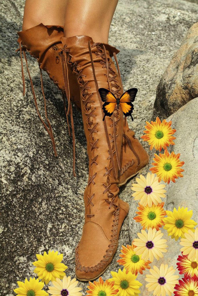 Leather boots tan knee high leather boots for women gipsy dharma