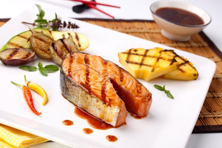 Teriyaki Salmon with Pineapple Recipe | One Love Recipes- Yellow food ...