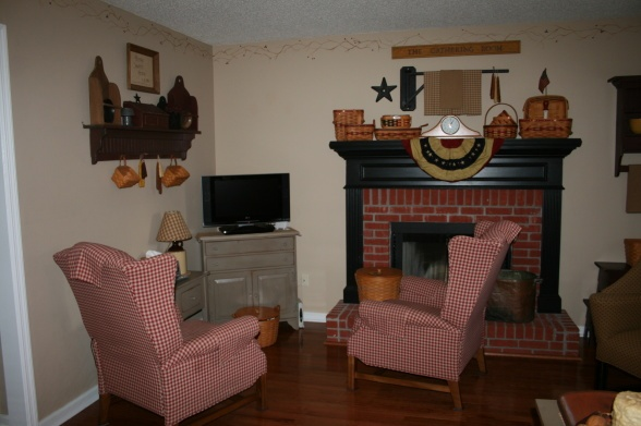 Primitive Country Living Room Decorating Ideas
