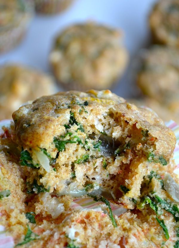 Whole Wheat Spinach & Feta Muffins - so ummm, these are happening over ...