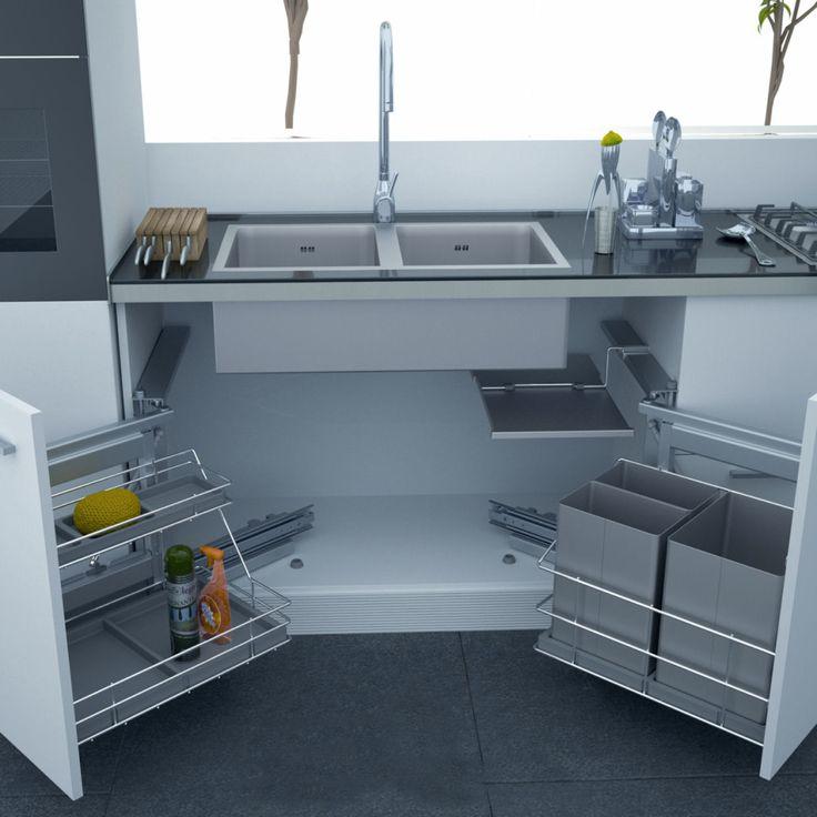 under kitchen sink storage solutions a k i t c h e n - Under Kitchen Sink Storage