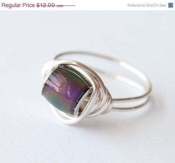 Christmas sale mood ring gifts under 20 by mlwdesigns on etsy 9 00