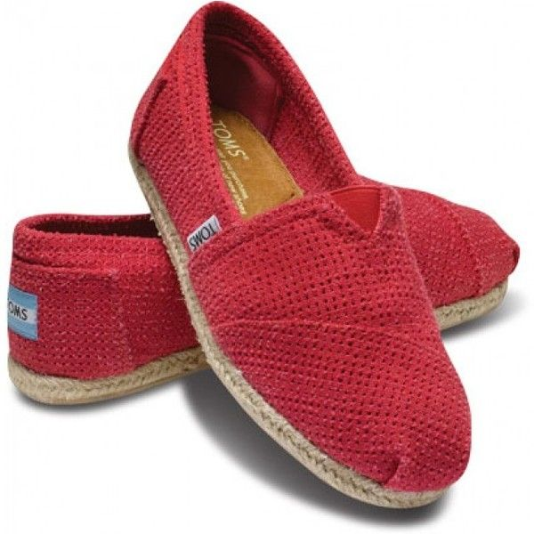 TOMS Freetown Fuchsia Classic Slip On Women Shoes 11 found on Polyvore