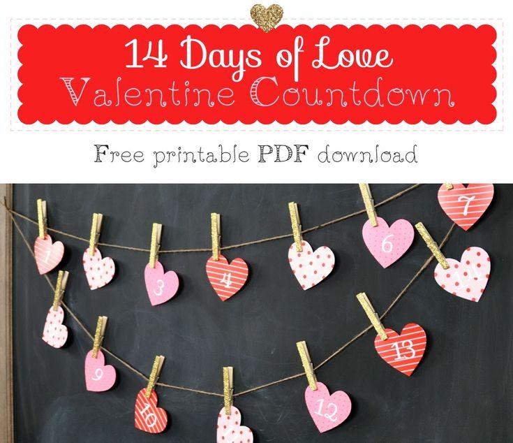 Holly Brooke Jones: Valentine Countdown - Free printable