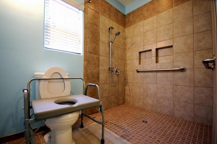 Roll In Shower Universal Design Pinterest