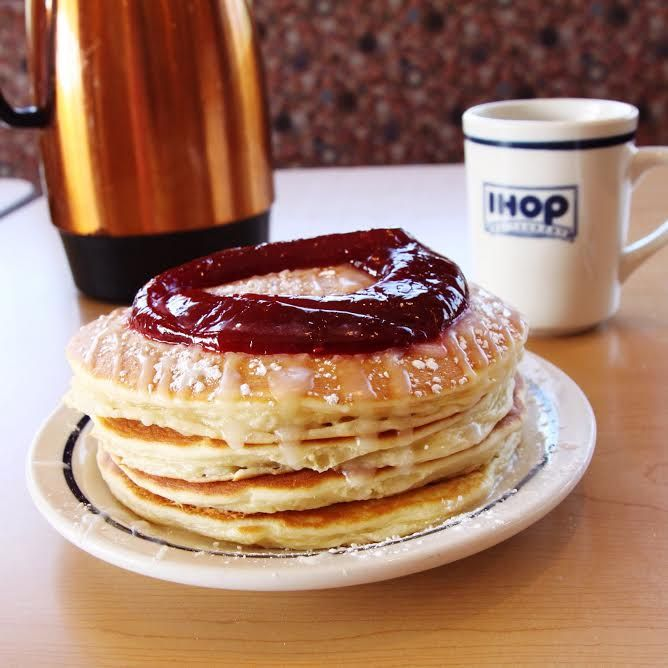Jelly Donut Pancakes are filled to perfection!