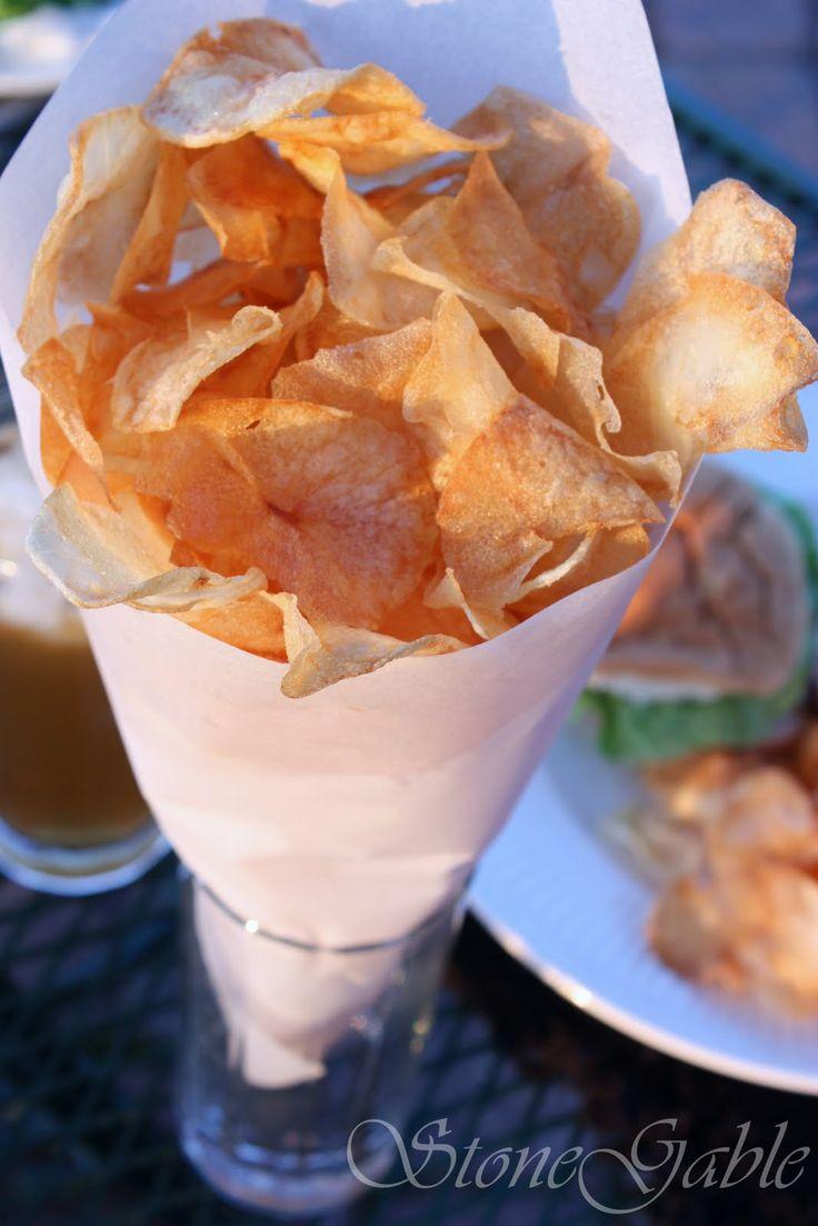 Homemade Potato Chips! | Chips and dip | Pinterest