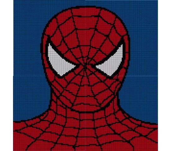 Crochet Pattern For Spiderman Blanket : Spiderman Crochet Pattern Afghan Graph Crochet Pinterest