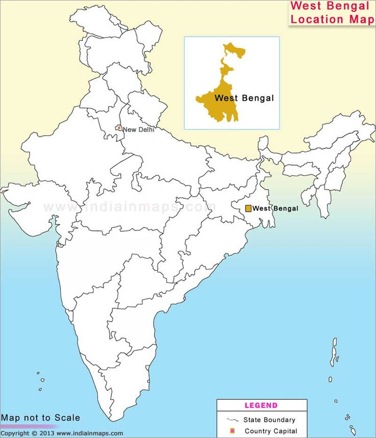 West Bengal Location Map | Location Map of Indian States | Pinterest