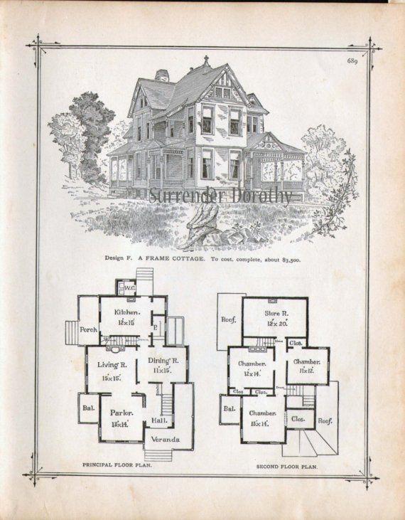 Frame Cottage House Plans 1881 Antique Victorian