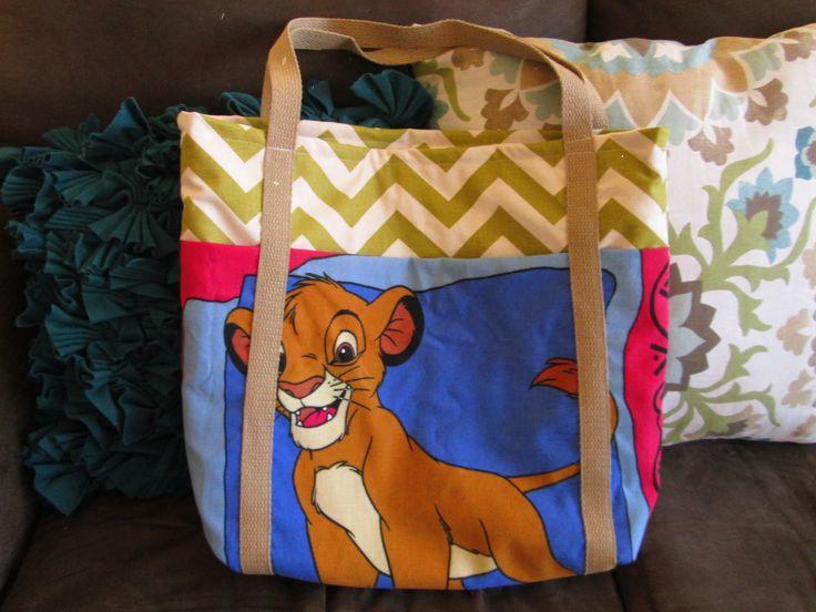Disney Lion King Large Tote Bag/Diaper Bag  | Sewing Creations