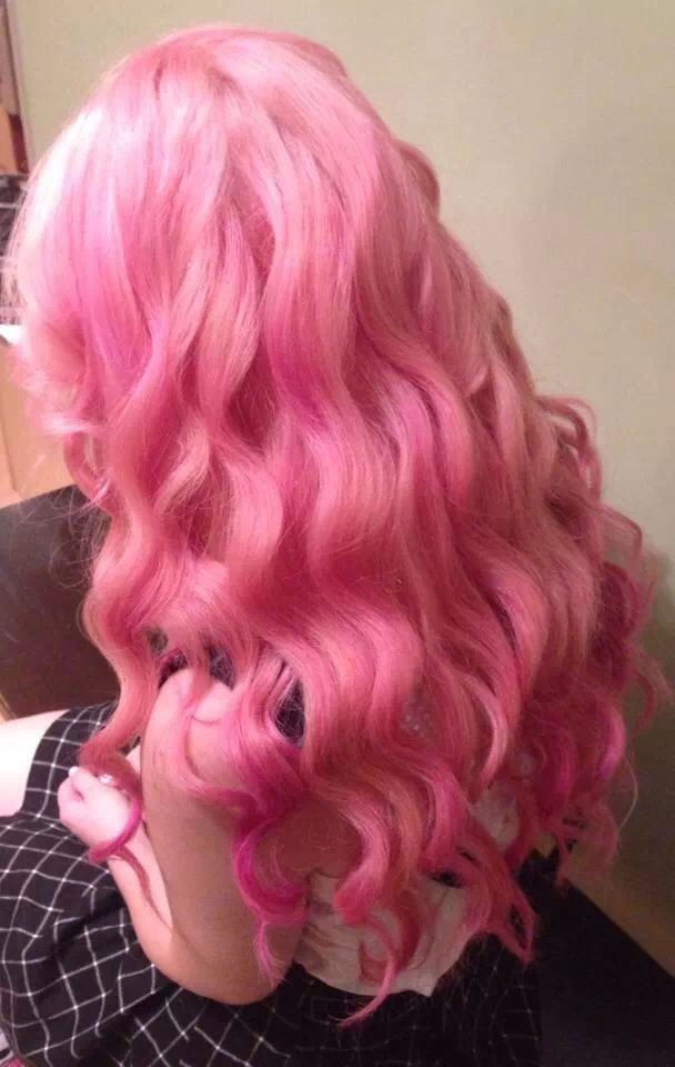 cotton candy pink ombre hair color hair and makeup