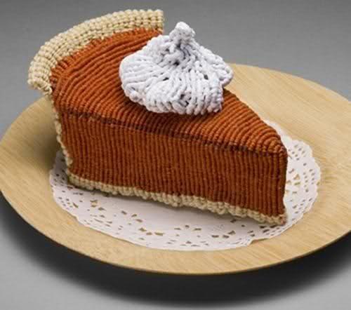 Knitted pumpkin pie | Nifty Knitting and Crochet | Pinterest
