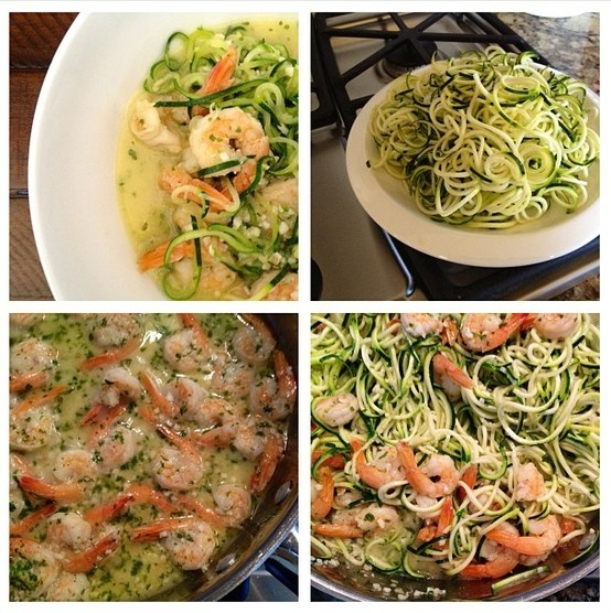 it #feelsgreat being back in the #kitchen! #lunch: #garlic #shrimp # ...