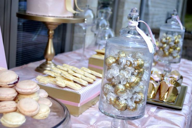 pink and gold baby shower party ideas pinterest