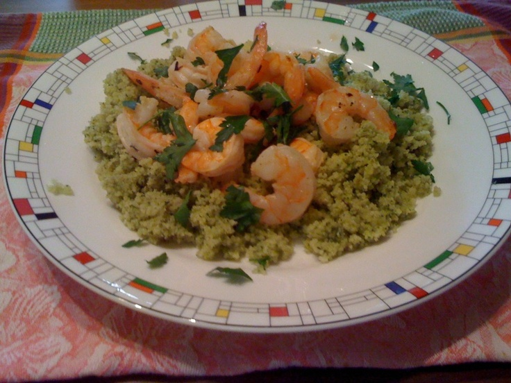 Scampi over Couscous | This looks yummy!! | Pinterest